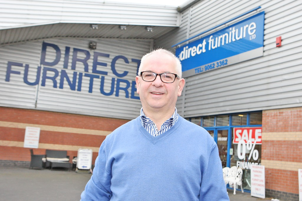 Eugene McGurk, Direct Furniture pictured at his Andersonstown Branch