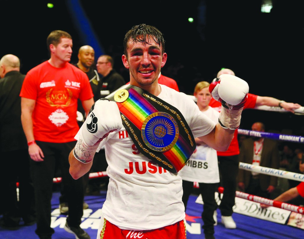Jamie Conlan celebrates his victory over Anthony Nelson that saw 'The Mexican' crowned Commonwealth super-flyweight champion