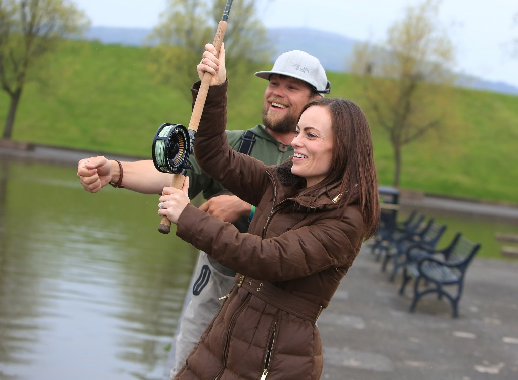 Amid speculation that she's in line for a big SDLP promotion, newly elected North Belfast MLA Nichola Mallon headed to the Waterworks Celtic Spey Casting Challenge for a bit of post-election relaxation, where she was given a few tips by Oregon competitor Travis Johnson