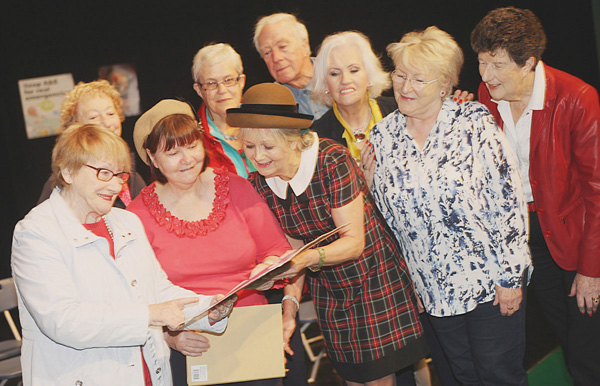 The Belfast U3A FunDrama group at the Belvoir Studio Theatre during rehearsals for their upcoming productions in South Belfast