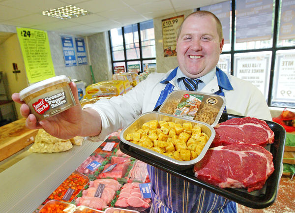 John McAuley with his latest ribeye steak offer.