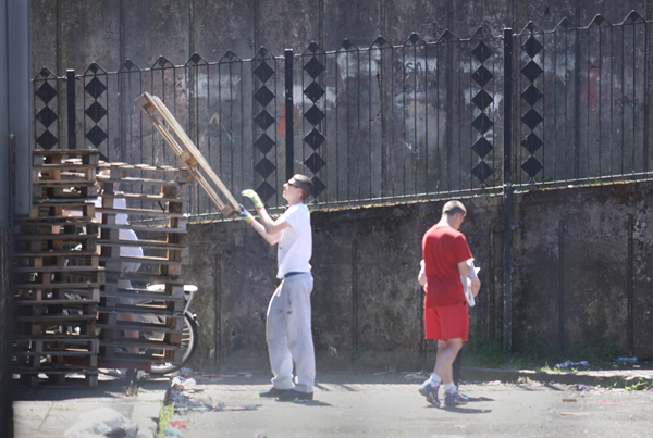 Young people have already started collecting wood for the August 9 bonfire