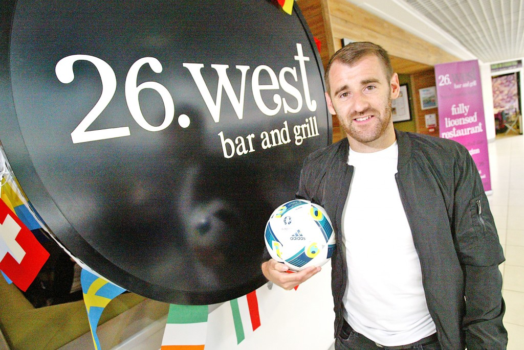 EURO STAR: Niall McGinn was at 26 West for the launch of a new menu for the West Belfast restaurant after a successful Euro 2016 campaign with Northern Ireland
