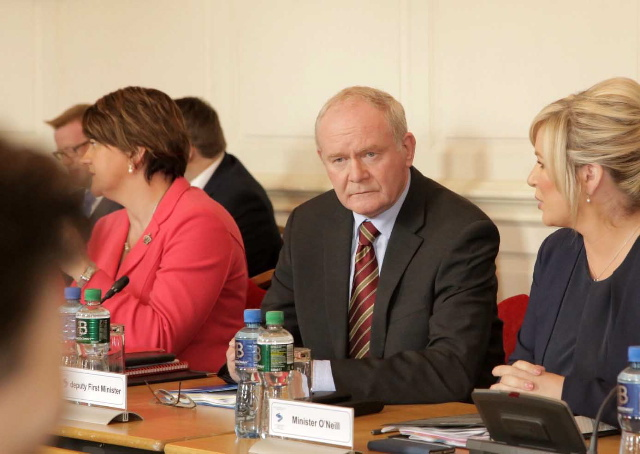 DIFFERENCE OF OPINION: First Minister Arlene Foster and deputy First Minister Martin McGuinness have not seen eye to eye since the Brexit result