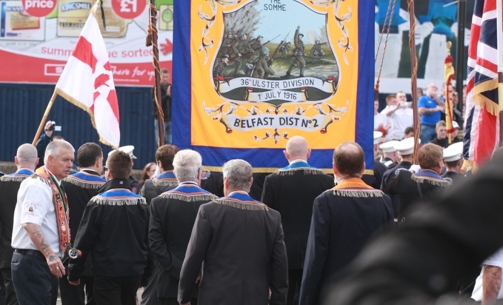 The Orange Order and supporters at Twaddell Avenue