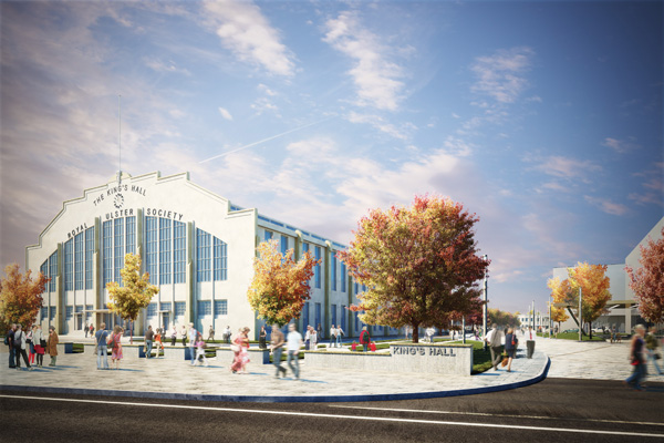 An artist's impression of how the new £100m healthcare and leisure development at the King's Hall will eventually look