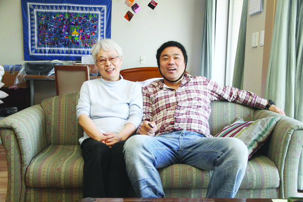 : North Belfast Japanese conceptual artist Shiro Masuyama with his mother Tei