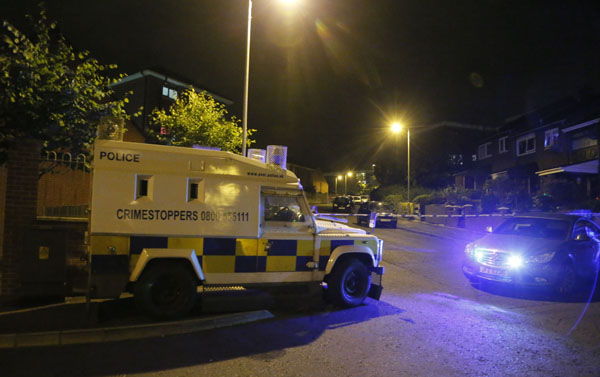 Police sealed off a large area of North Belfast following the attack