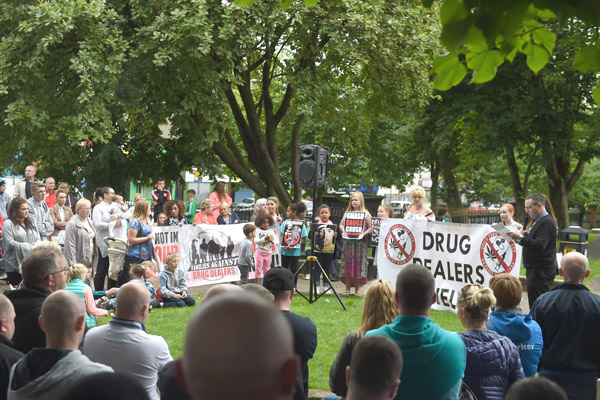 NEXT STEP: Hundreds gathered in the Waterworks for an anti-drugs rally – campaigners will now begin a fight for adequate addiction services
