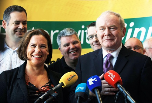FUN AND GAMES: Martin McGuinness fends off questions about a new Sinn Féin leadership