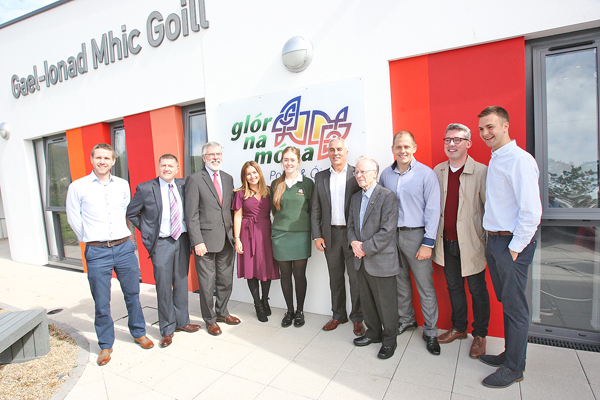 The official opening of Gael-lonad Mhic Goill – Glór na Móna's new building on the Whiterock Road in Belfast