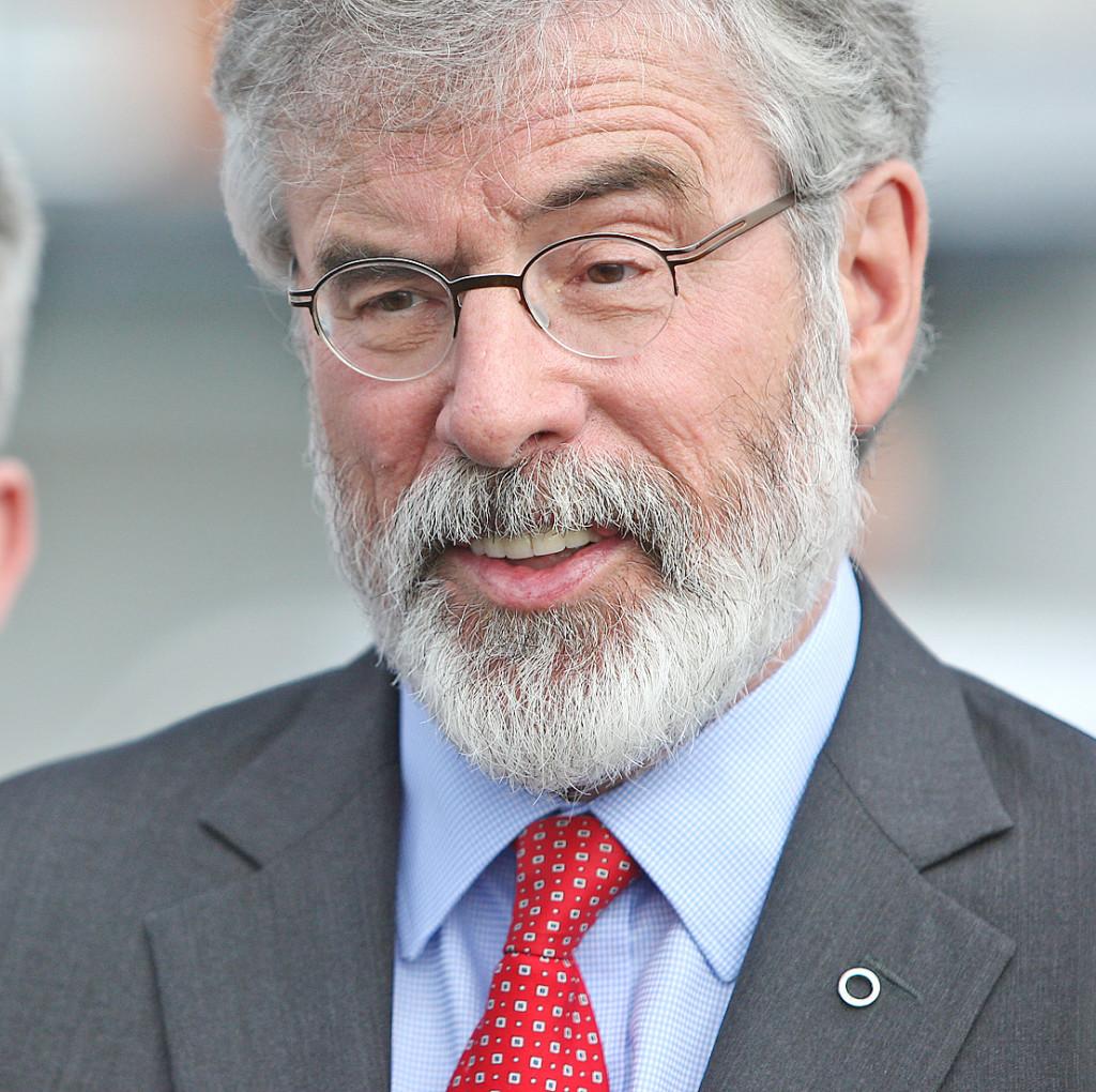 ACTION: Sinn Féin President Gerry Adams has issued legal proceedings against the BBC over last week's Spotlight programme