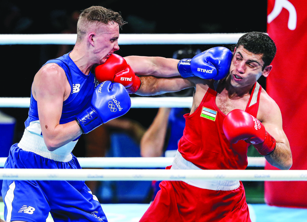 Brendan Irvine lost out to eventual gold medallist Shakhobidin Zoirovin in his opening flyweight bout
