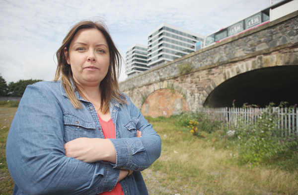 Cllr Deirdre Hargey at the railway arches that are to be transformed into a community/commercial hub