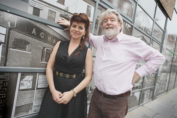 GREAT WRITING: Looking forward to the opening night are Martin Lynch with Maria Connolly