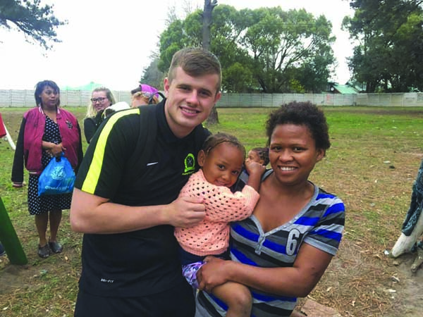 :  Ardoyne man Pierce McConnell re-visited South Africa earlier this summer on a second trip with the annual Belfast 2 Blanco programme.