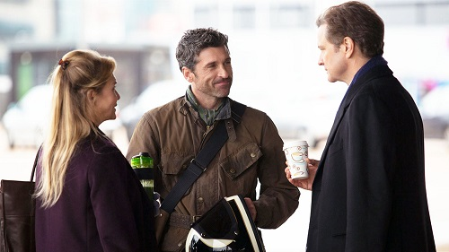 awkward:Bridget Jones with Darcy, right, and Jack Qwant