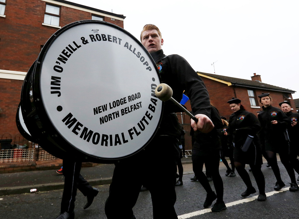 The Jim O'Neill & Robert Allsopp band parade along the New Lodge Road