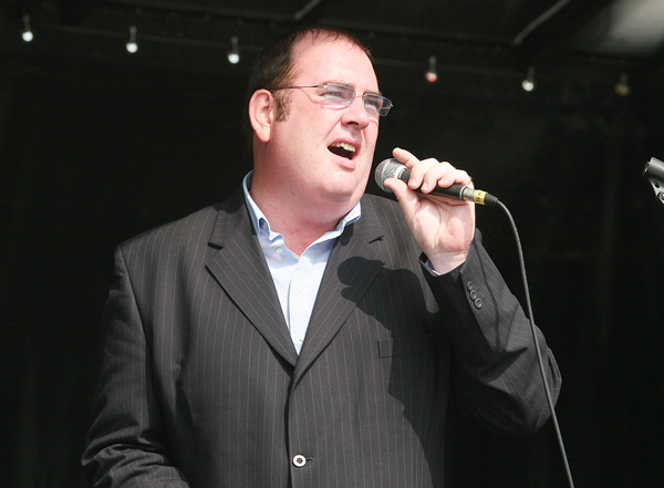 Seamie McPeake is renowned in Belfast for his powerful singing voice