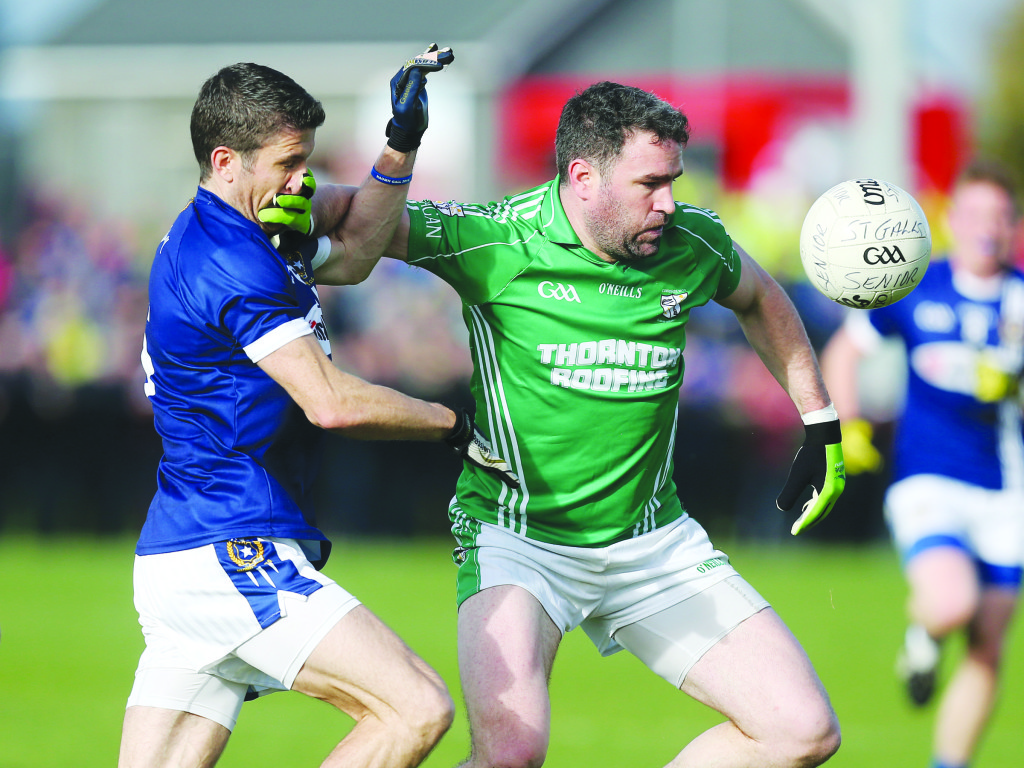 Sean Kelly and Michael Magill will renew acquaintances this Sunday when St Gall's clash with Cargin in the Antrim Senior Football Championship final at Corrigan Park