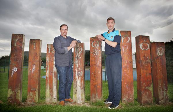 Gerry McCabe with Damien McCallin at Tir na nÓg Park