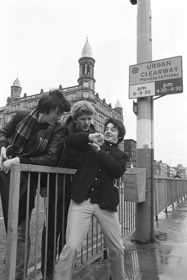 Bap Kennedy, right, with fellow Ten Past Seven band members Declan Carville and Spade McQuade back in 1981