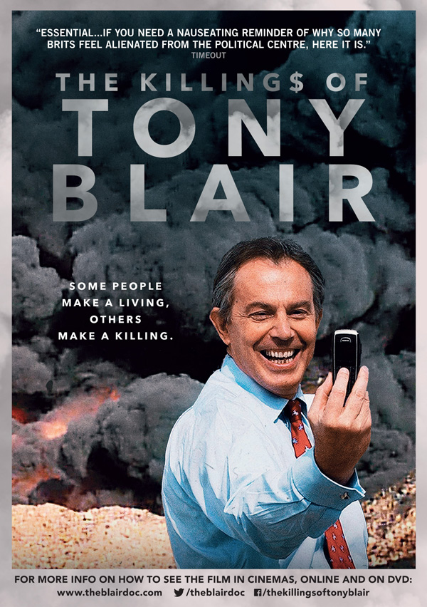 The Killing$ of Tony Blair will be shown at St Mary's in March