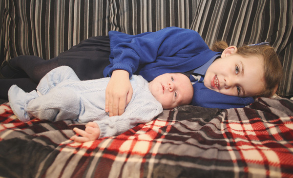 COMMUNITY SUPPORT:Oldpark siblings Caleb and Katie Donaghy who both suffer from cystic fibrosis. A local fundraising drive has started for the children