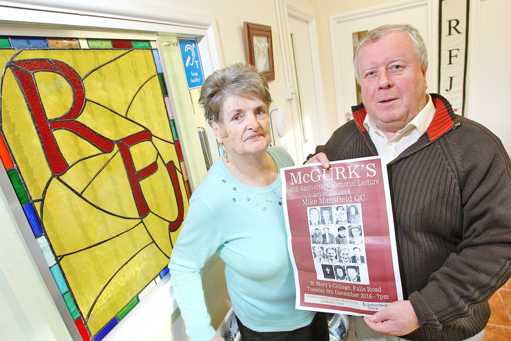 Robert McClenaghan and Clara Reilly from Relatives for Justice