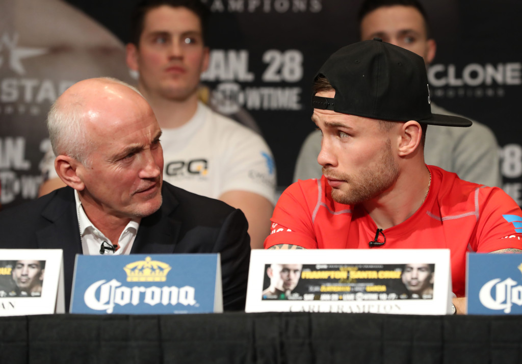 Barry McGuigan and Carl Frampton at Thursday's press conference  Photo William Cherry/Presseye