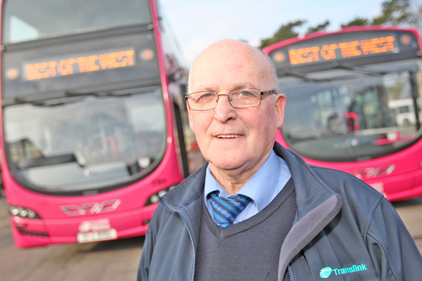 POPULAR: Translink bus driver Kevin Maguire who is retiring in April