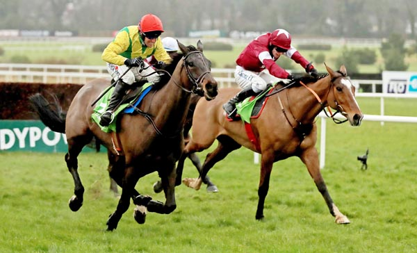 RYANAIR BOUND:  Sizing John has been cut by Sean Graham after winning the Irish Gold Cup on Sunday