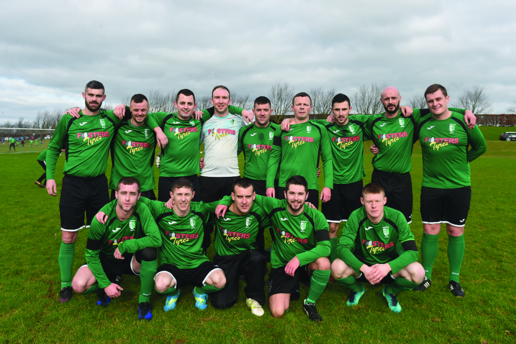 The Tullymore Swifts team before Saturday's game at Mallusk