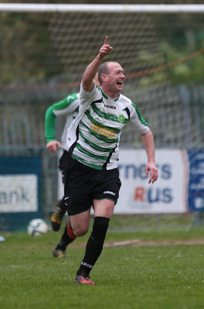 Donegal Celtic's Paul Brown was among the scorers when the Hoops beat Sport and Leisure Swifts 5-3 in December. The West Belfast rivals meet again at Suffolk Road this Saturday
