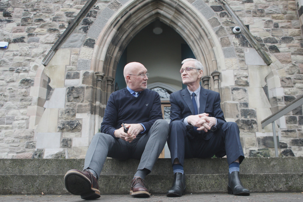 Bill Shaw of the 174 Trust with Liam Maskey of Intercomm Ireland