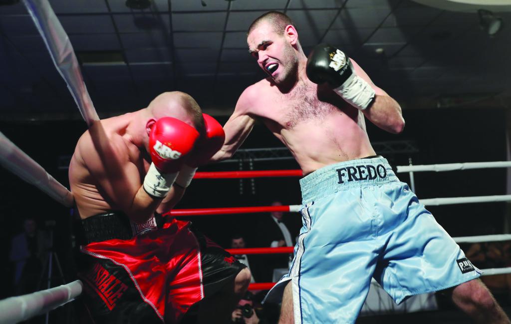 Alfredo Meli goes on the attack against Laszlo Fazekas on Friday