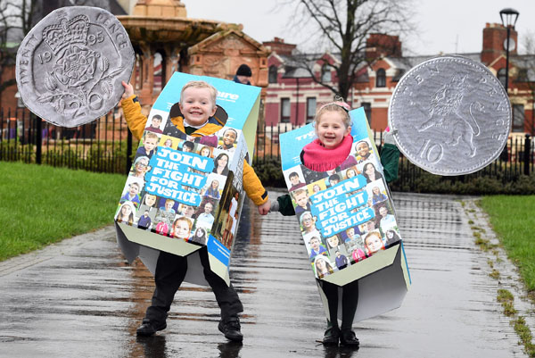 Cillian Devlin Benstead (5) and Mary-Kate Page (5) help launch Trocaire's Lenten campaign 2017. (Photo: Justin Kernoghan, Photopress)