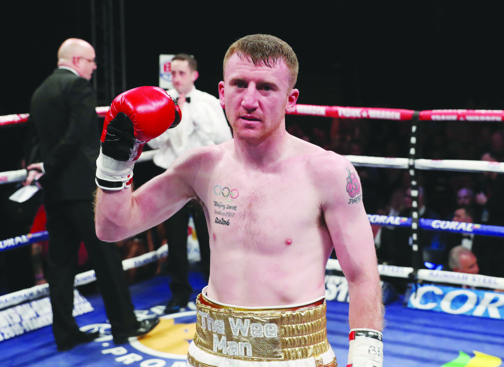 Paddy Barnes was disappointed his first pro fight ended in a win by disqualification against Stefan Slavchev back in November