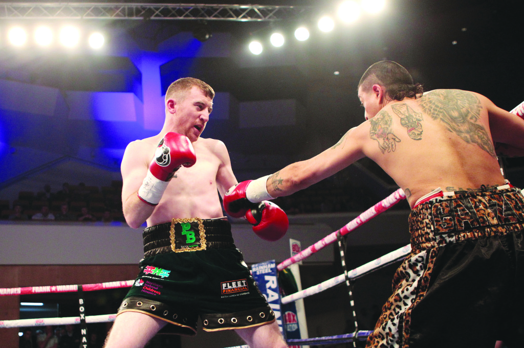 Paddy Barnes goes on the attack during Friday's fight at the Waterfront Hall