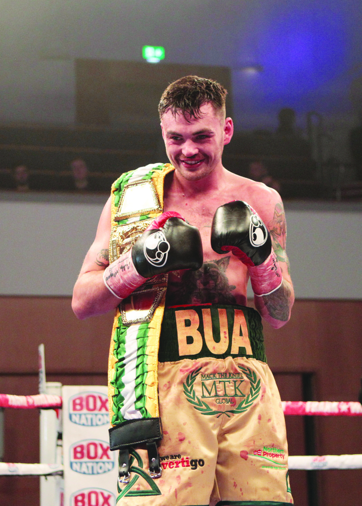 Tyrone McKenna stopped Jake Hanney in the sixth round to defend his BUI Celtic Nations title