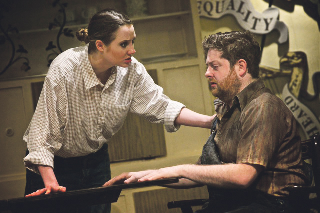 FACE TO FACE:Christine Clare as Colleen with Gerard McCabe as Paudie Rua