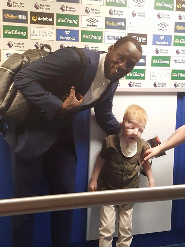 STARSTRUCK: Dáire was overwhelmed to meet Everton striker Romelu Lukaku after the Watford game