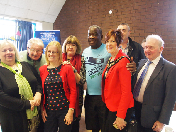 Antrim and Newtownabbey Deputy Mayor Noreen McClelland met with Rev Isaacs and other community volunteers at Friday's breakfast