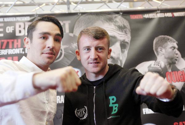Jamie Conlan and Paddy Barnes at Tuesday's press conference ©INPHO/Presseye/Jonathan Porter