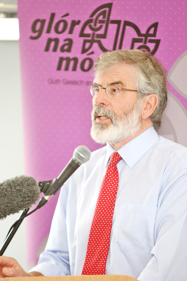 Gerry Adams has expressed concerns about a DUP- Conservative deal