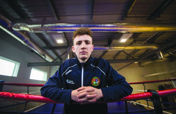 Brenadan Irvine's Olympic experience means he is one of the leaders of the Irish team despite being just 21 year-old
