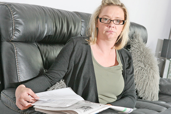 DOCUMENTS: Lisa McNally at home this week