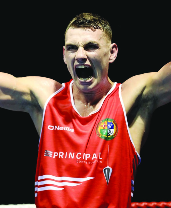 Sean McComb says he is looking forward to boxing having been training since his Irish Elite title win back in February