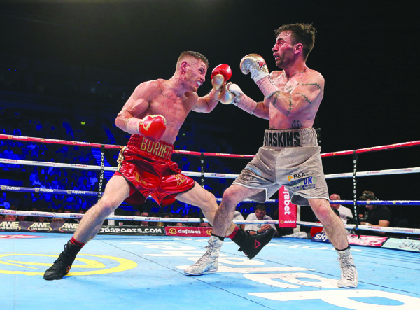 Ryan Burnett in action against Lee Haskins on Saturday