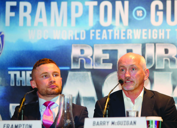 Barry McGuigan is expecting an exciting fight when Carl Frampton locks horns with Andres Gutierrez next weekend
